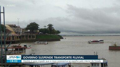 Governo do AM suspende viagens intermunicipais fluviais - Decreto foi divulgado na quinta-feira (19).