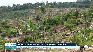 Continua desocupação do Monte Horebe, em Manaus - Trabalho começou em março deste ano.