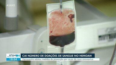 Cai número de doações de sangue no Hemoam - Hemocentro adotou medidas de prevenção por causa do novo coronavírus.