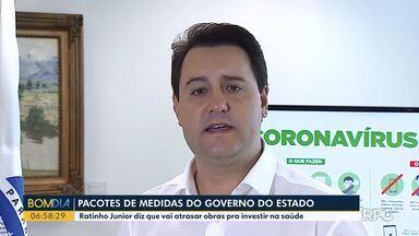 Ratinho Junior diz que vai atrasar obras para investir dinheiro na Saúde - O governo vai anunciar um pacote de medidas para combater o coronavírus.