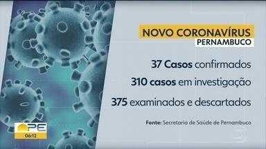 Pernambuco confirma 37 casos do novo coronavírus - Outros 310 seguem em investigação no estado; decreto determina expediente apenas para serviços essenciais.