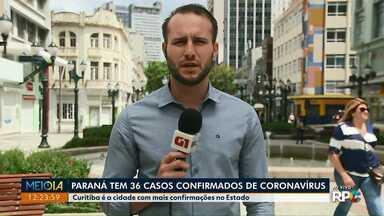 Paraná tem 36 casos confirmados de coronavírus - Veja também como vai ser a vacinação contra a gripe em todo o estado.