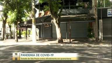 Coronavírus: Estado de São Paulo entra oficialmente em quarentena - Somente serviços essenciais vão funcionar até o dia 7 de abril. Na capital paulista, a principal mudança desde a semana passada é o fechamento de bares e restaurantes para o consumo no local.