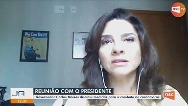 Carlos Moisés participa de reunião com o presidente Bolsonaro - Carlos Moisés participa de reunião com o presidente Bolsonaro