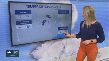 Confira a previsão do tempo para a região de Campinas desta quarta-feira (25) - Próximos dias devem ter céu claro com poucas nuvens.