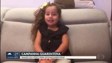 Campanha quarentena - Mande seu vídeo #eunaquarentena e mostre o que você está fazendo em casa durante o período de isolamento.