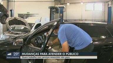 Serviços essenciais não param e se adaptam para atender o público em São Carlos - Objetivo é eveitar aglomeração e não colocar a saúde de funcionários e clientes em risco.