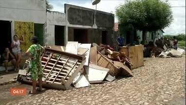 Cento e vinte e sete municípios do CE registraram chuva nesta quarta-feira - Em Hidrolândia, a chuva deixou 300 famílias desalojadas.