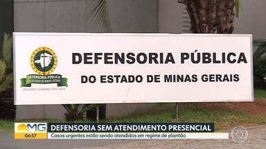 Defensoria Pública suspende atendimento presencial - Casos urgentes estão sendo atendidos em regime de plantão.