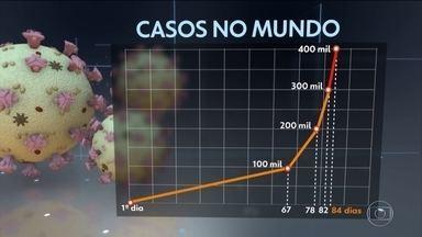 Número de casos do novo coronavírus acelera a uma taxa exponencial, diz OMS - Nos últimos dois dias, o mundo registrou mais cem mil novos casos de Covid-19. Sem ação agressiva em todos os países, milhões de pessoas podem morrer, segundo OMS.