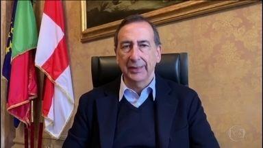 Prefeito de Milão se arrepende por campanha contra isolamento - Há 30 dias, Lombardia, região no norte da Itália, tinha 258 casos do novo coronavírus. Um mês depois, tem 37 mil casos da doença e mais de cinco mil mortos.