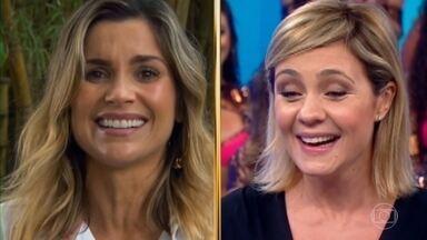 Histórias do Domingão: Gabriela Duarte e Flávia Alessandra contam sua relação com Adriana Esteves - As atriz revelam histórias de amizades e bastidores