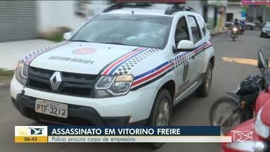 Polícia procura corpo de empresária no Maranhão - Dois homens apontados como os assassinos estão foragidos e uma mulher que se dizia amiga da vítima confessou a participação no crime já está presa.
