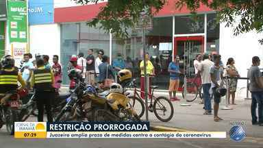 Prefeitura de Juazeiro amplia decreto com medidas de restrição para conter o coronavírus - Cidade do norte do estado tem dois casos confirmados da doença.