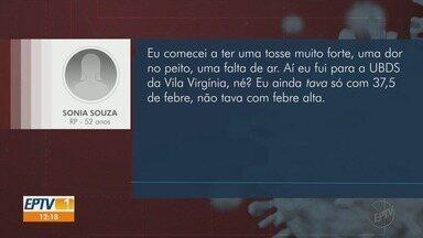Idosos relatam dificuldades por conta do novo coronavírus - Diabética, Sonia Souza teve que ficar em isolamento por fazer parte do grupo de risco.