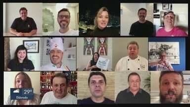 Donos de restaurantes lançam campanha para moradores pedirem delivery - O movimento #peçacomidaemcasa é uma maneira dos empresários driblarem a crise causada pelo novo vírus.