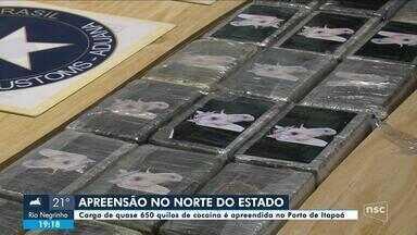 Mais de 600 quilos de cocaína que iriam para Alemanha são apreendidos em porto de SC - Mais de 600 quilos de cocaína que iriam para Alemanha são apreendidos em porto de SC