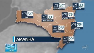 Veja como ficará o tempo em todas as regiões de SC nesta quarta-feira (1º) - Veja como ficará o tempo em todas as regiões de SC nesta quarta-feira (1º)