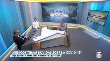 Saiba como usar máscara para se proteger do novo coronavírus - Especialistas ensinam como usar máscaras na prevenção da Covid-19.