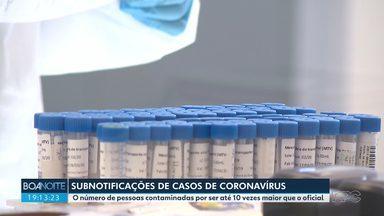 Número de casos de coronavírus pode ser dez vezes maior do que o oficial - Médicos explicam que quanto mais pessoas forem testadas, maior será o número de casos e que isso não significa que a epidemia estará pior.