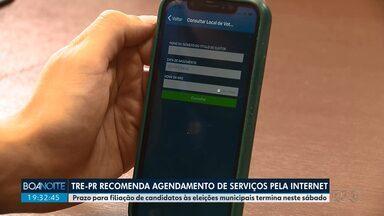 Tribunal Regional Eleitoral recomenda que serviços sejam agendados pela internet - Os atendimentos presenciais estão suspensos até dia 30 de abril.