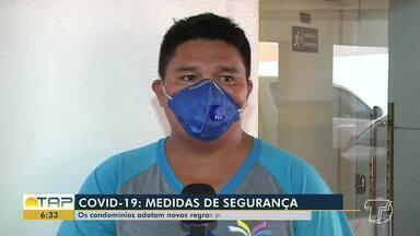 Condomínios intensificam limpeza de corrimãos e áreas de circulação de moradores - Normas foram estabelecidas como medidas preventivas nos condomínios para evitar a proliferação do coronavírus.
