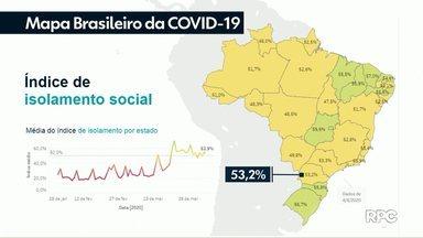 Paraná é o 12º estado no ranking que avalia o índice de isolamento social - Monitoramento é feito por meio do aplicativo de localização do celular dos moradores.