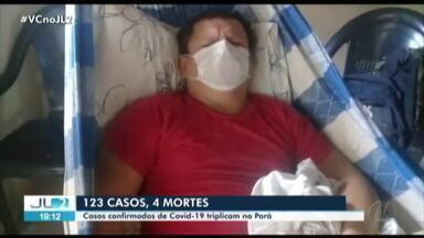 Sobe para 123 o número de casos de Covid-19 no Pará - Mais uma morte no estado também foi confirmada pela Sespa.