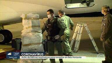 Coronavírus: Respiradores de Brasília e do Amapá chegam para conertar em Belo Horizonte - Os equipamentos foram levados para a PM para o Senai.