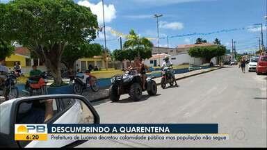 Prefeitura de Lucena decreta calimade pública, mas populaçcão não cumpre isolamento - População está descumprindo a quarentena.