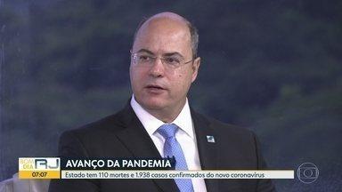 Wilson Witzel fala sobre ações para conter avanço do coronavírus no RJ - O governador do Rio de Janeiro falar sobre as medidas de prevenção contra a pandemia de Covid-19