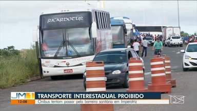 PM barra veículos que tentam entrar no Maranhão pelo Tocantins - Nove ônibus transportando passageiros tentaram entrar pela ponte que Dom Felipe Gregory, que liga o Maranhão ao Tocantins.