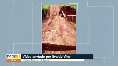 VC no MG: Confira os vídeos enviados pelos telespectadores do MG1 - Morador mostra problema em um Distrito de Inhapim.