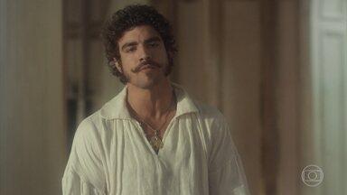 Pedro não gosta de saber que Thomas virou ministro - Dom João explica seus planos para o príncipe. Pedro reclama que o pai não lhe dá uma única chance para provar que pode ser útil no reino