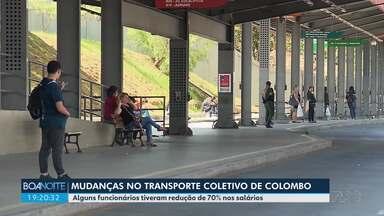 Alguns funcionários do transporte coletivo de Colombo tiveram redução de 70% no salário - Por isso, passageiros precisaram enfrentar mudanças na rotina de pegar ônibus na cidade.