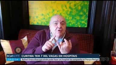 Prefeito diz que pode construir um hospital de campanha no Parque Barigui se for preciso - Rafael Greca afirmou que há 7 mil vagas nos hospitais de Curitiba.