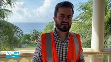 Paciente com a Covid-19 é transferido de Fernando de Noronha para Recife - Governo de Pernambuco teve de alugar um avião de salvamento equipado com UTI para fazer a transferência