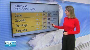 Manhãs continuam frias na região de Campinas; veja a previsão desta sexta-feira (10) - Em Piracicaba (SP), mínima é de 13ºC e máxima de 29ºC.