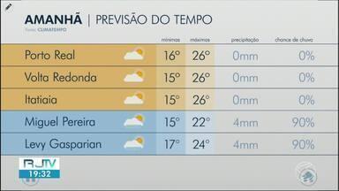 Sexta-feira será de tempo nublado no Sul do Rio - Temperaturas continuam caindo e em algumas cidades há possibilidade de chuva.