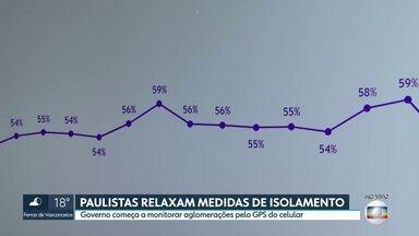 SP2 - Edição de quinta-feira, 09/04/2020 - Paulistas relaxam medidas de isolamento e governo começa a monitorar aglomerações pelo GPS do celular. Mais de 17 mil testes aguardam resultado.