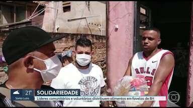 Solidariedade durante a pandemia: líderes comunitários realizam mobilização em Aglomerado - Eles estão montando até uma cozinha emergencial para entregar comida pronta para quem não tem gás de cozinha em casa