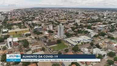 Amapá tem 5ª maior taxa de incidência de Covid-19 no país e entra no status de emergência - Amapá tem 5ª maior taxa de incidência de Covid-19 no país e entra no status de emergência