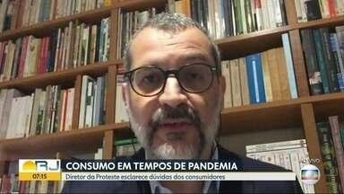 Diretor do Proteste esclarece dúvidas sobre consumo em tempos de pandemia - O diretor da Proteste, Henrique Lian, esclarece dúvidas dos consumidores.
