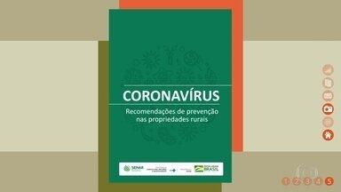 Senar lança cartilha com cuidados contra o coronavírus; saiba como baixar - Material explica quais são os sintomas e as medidas que devem ser adotadas para garantir a saúde dos trabalhadores rurais.