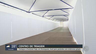 Centro de Triagem para pacientes com síndrome gripal começa a funcionar em Araraquara - Local foi adaptado na UPA da Vila Xavier.