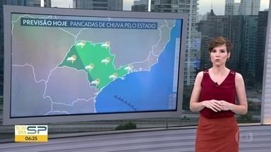 Confira a previsão do tempo para esta terça-feira (14) - Frente fria chega à São Paulo trazendo áreas de instabilidade e queda de temperatura nos próximos dias,