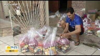 Exemplo: esportista doa cestas básicas para famílias carentes de Santa Izabel - Exemplo: esportista doa cestas básicas para famílias carentes de Santa Izabel