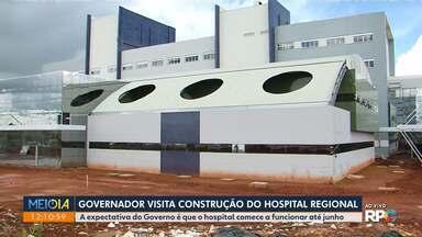 Governador visita construção de hospital em Guarapuava - A expectativa do Governo é que o Hospital Regional comece a funcionar até junho.
