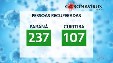 237 pessoas estão recuperadas da Covid-19 no Paraná - Número de confirmações chega a 768.