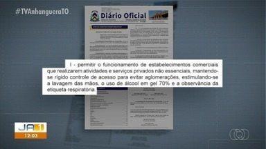 Novo decreto do Tocantins permite a abertura do comércio em geral - Novo decreto do Tocantins permite a abertura do comércio em geral